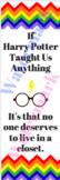 Harry Potter LGBTQ Rainbow Bookmark