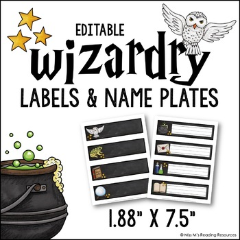Wizardry Labels & Name Plates