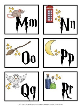 Harry Potter Letter Cards {Word Wall Cards}