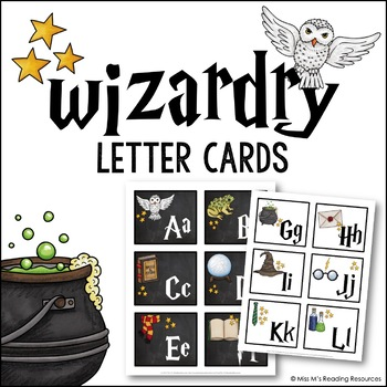 Wizardry Letter Cards {Word Wall Cards}