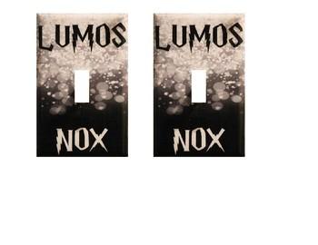 Harry Potter Light Switch Lumos Nox (1 hole & 3 hole)