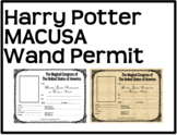 Harry Potter MACUSA Wand Permit