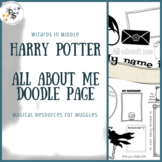 Harry Potter Magical All About Me Doodle Page