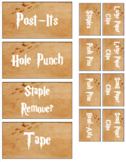 Harry Potter Marauder's Map Teacher Toolbox Labels