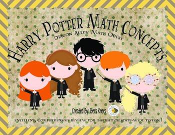 Harry Potter Math Concepts Review: A Math Quest