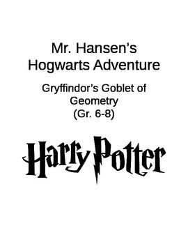 Harry Potter Math Menu, Geometry