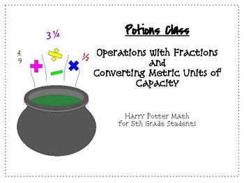 Harry Potter Math Potions