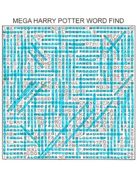 Harry Potter Mega Word Search & Key