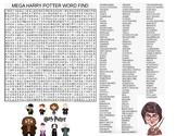 Harry Potter Mega Word Search & Key