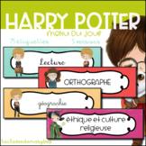Harry Potter - Menu du jour - Emploi du temps