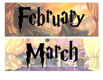 Harry Potter Month Signs