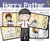 Harry Potter Multiplications - Cartes à pince - Clip Cards