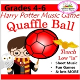 "Low ""la""  Music Lesson {Quaffle BALL Music Game -Harry Potter- 88 pages}"