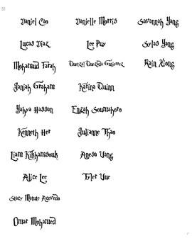 Harry Potter - Name Labels