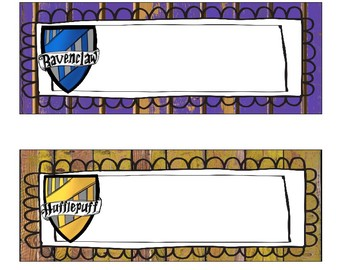 Harry Potter Name Plates *EDITABLE*