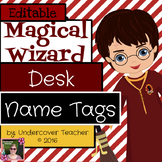 Magical Wizard Name Tags Plates {Editable} (6 Different Designs)