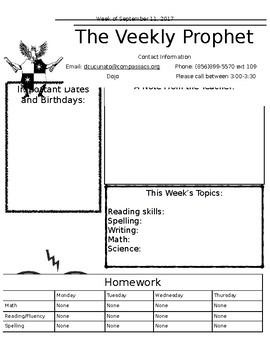 Harry Potter Newsletter Template - Editable