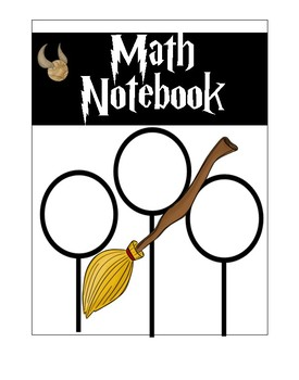 Harry Potter Notebook Covers-Interactive Notebook Covers-Reading Notebook Covers