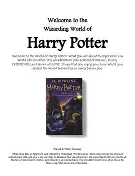 Harry Potter Novel Study Booklet