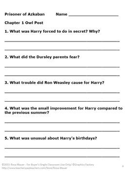 Harry Potter Novel Study Bundle