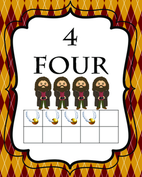 Harry Potter Number Flash Cards