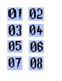 Harry Potter Numeric labels