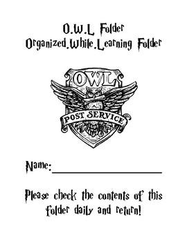 Harry Potter OWL folder