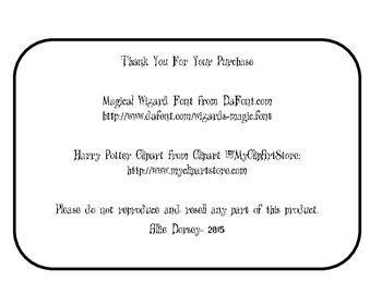 Harry Potter Parts of Speech
