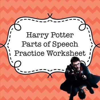 Harry Potter Parts of Speech Practice