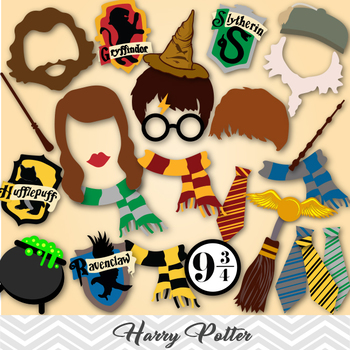 Harry Potter Photo Booth Props, Harry Potter Birthday ...