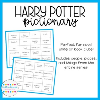 Harry Potter Pictionary (entire series; can also be used for Charades)