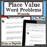 Digital Math Worksheet Google Classroom Place Value Word P