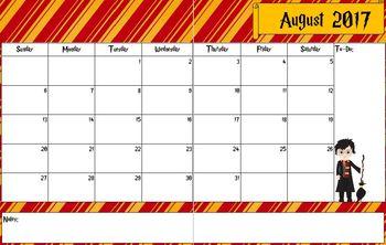 Harry Potter Planning Calendar