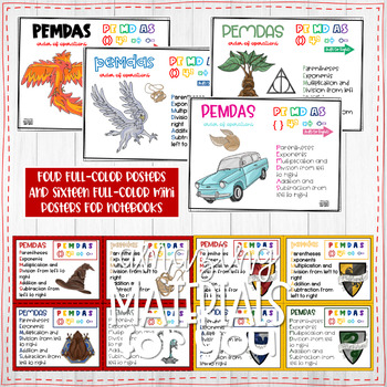 Harry Potter Posters for Order of Operations PEMDAS