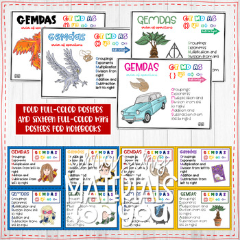 Harry Potter Posters for Order of Operations GEMDAS