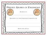 Harry Potter Prefect Award Certificates