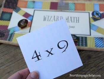 Harry Potter Inspired Wizard Math Printable Multiplication Board Game