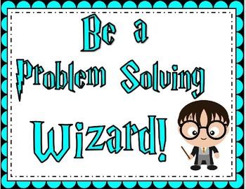 Harry Potter Problem Solving Steps