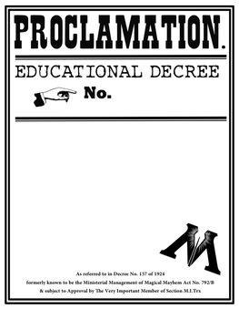 Harry Potter Proclamation Education Decree template