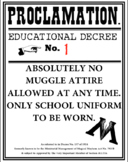 Harry Potter Proclamation Education Decree template