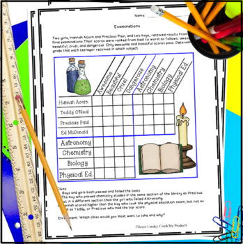 Logic Puzzles with Grids - Harry Potter