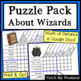 Harry Potter Logic Puzzle Worksheets for Gifted and Talent