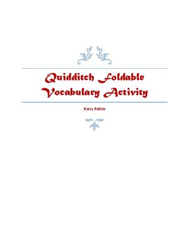 Harry Potter ~ Quidditch Vocab