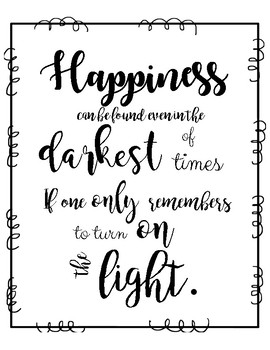 Harry Potter Quote Posters