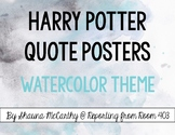 Harry Potter Quote Posters Pack - Watercolor & Ink Saver!