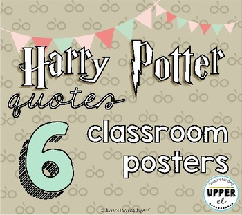 Harry Potter Quotes Classroom Poster Set