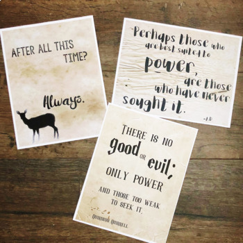 Harry Potter Quotes Set 2: Classroom Signs