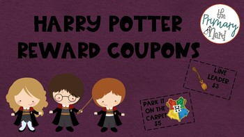 Harry Potter Reward Coupons-Dollar Amounts