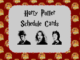 Schedule Cards Harry Potter Style