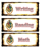 Harry Potter Schedule Cards (Editable)